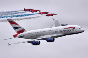 A380 & Red Arrows - RIAT 2013 - Explored :-)